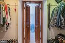Master Bath / Closet with Doors to Master Bedroom - 9017 BRAEBURN DR, ANNANDALE