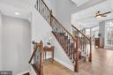 Stairway View to Lower Lower Level - 41244 GRENATA PRESERVE PL, LEESBURG