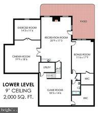 floor plan - 42760 RIDGEWAY DR, BROADLANDS