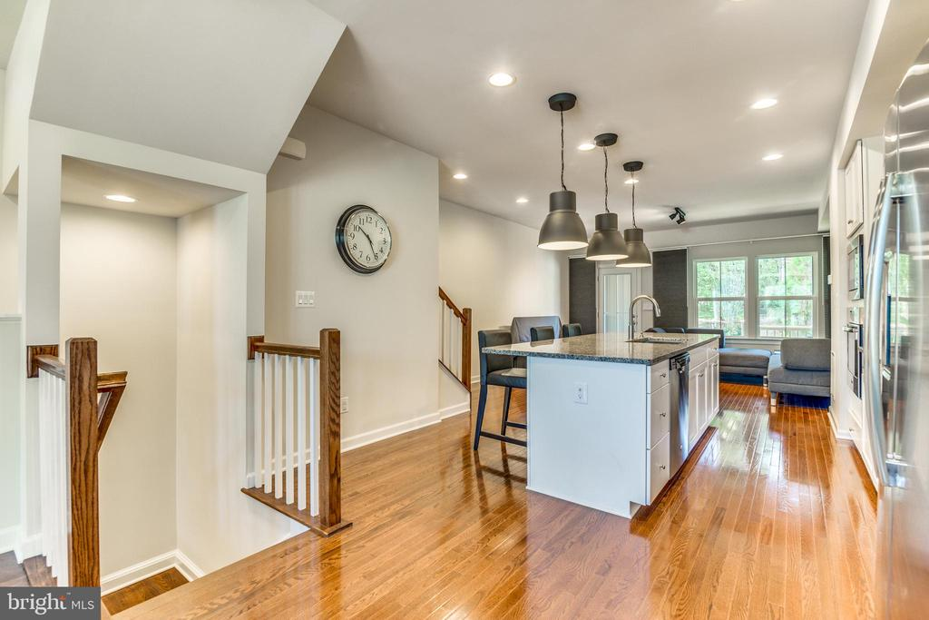 Open Concept Kitchen/Living Room - 9251 WOOD VIOLET CT, FAIRFAX