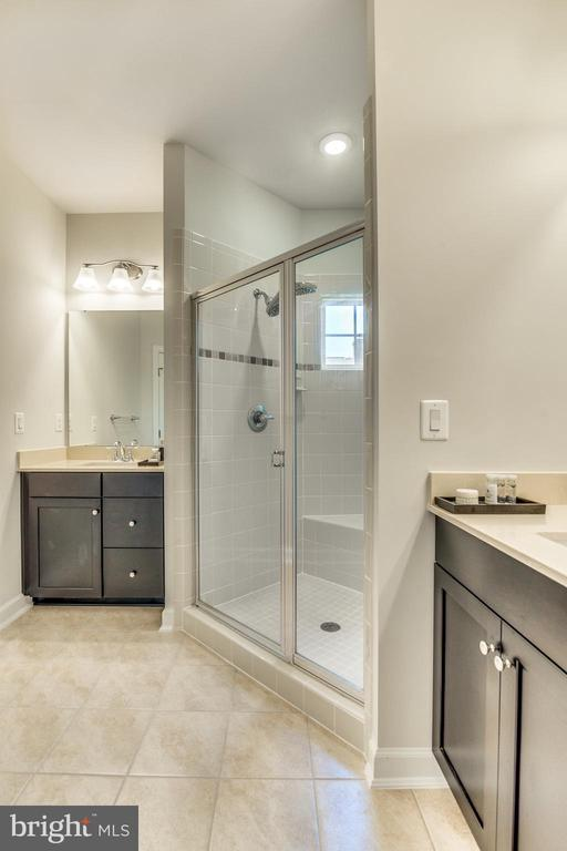Master Bathroom with gorgeous and roomy Shower - 9251 WOOD VIOLET CT, FAIRFAX