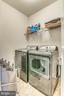 Laundry Room on Upper Level 2 convenient to 2 BRs - 9251 WOOD VIOLET CT, FAIRFAX