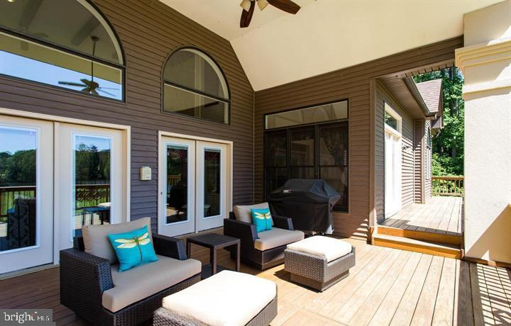 COVERED REAR DECK OVERLOOKING LAKE ANNA - 6505 MATTHEW LN, MINERAL
