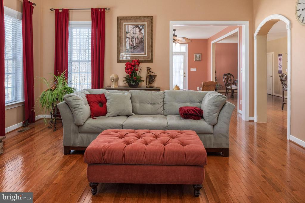 Family room sitting off the sunroom bump out. - 3 GRISTMILL DR, STAFFORD