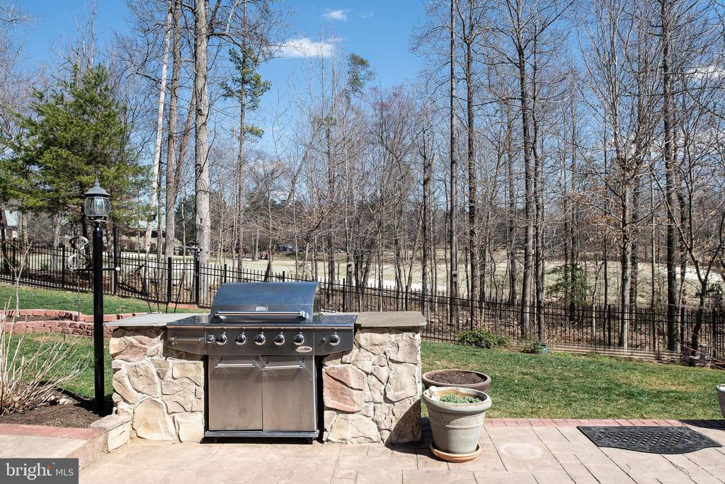 Enjoy stone gas grill built in! Fire up the bbq! - 3 GRISTMILL DR, STAFFORD