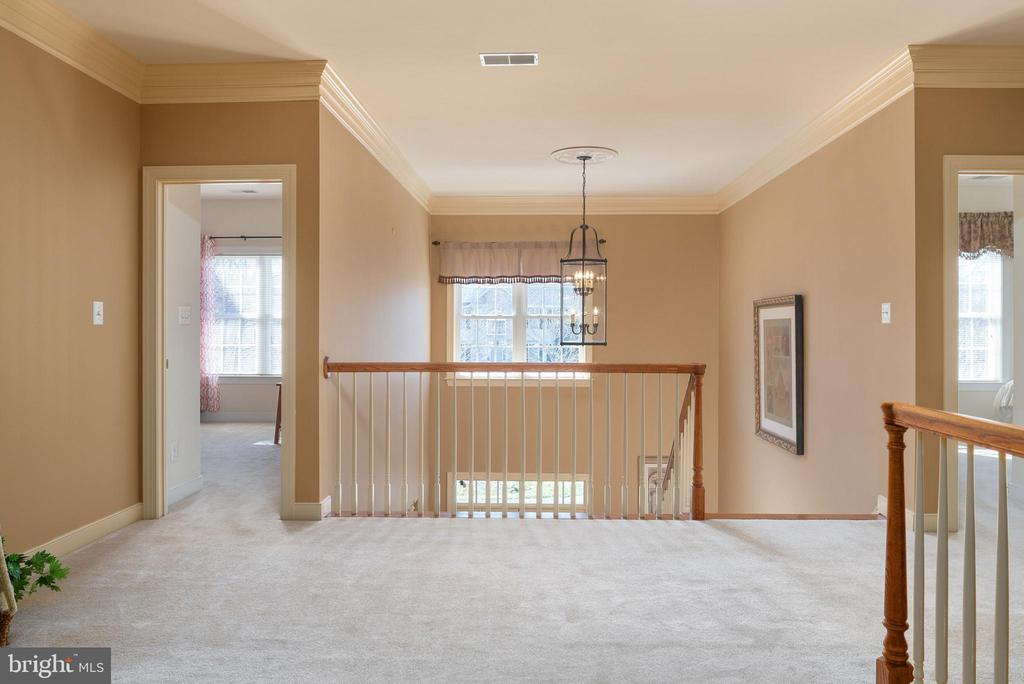 Two story front hallway - 3 GRISTMILL DR, STAFFORD