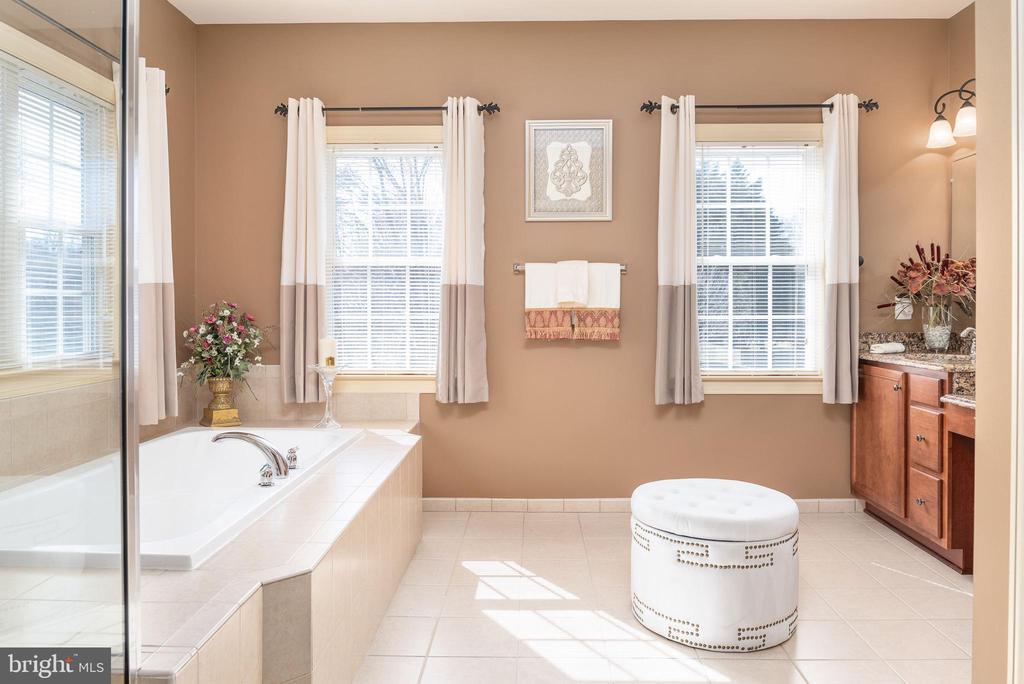 Spa retreat in master bathroom - 3 GRISTMILL DR, STAFFORD