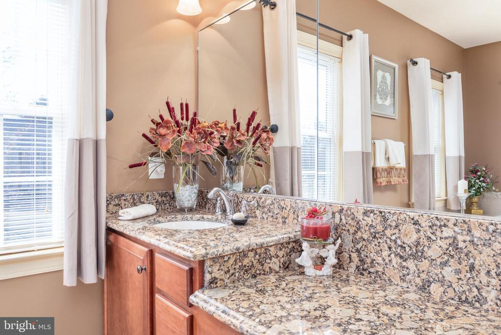 Natural light streams in this master bathroom - 3 GRISTMILL DR, STAFFORD