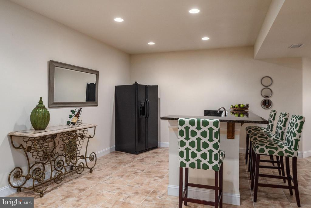 Wet bar with stunning granite countertop. - 3 GRISTMILL DR, STAFFORD