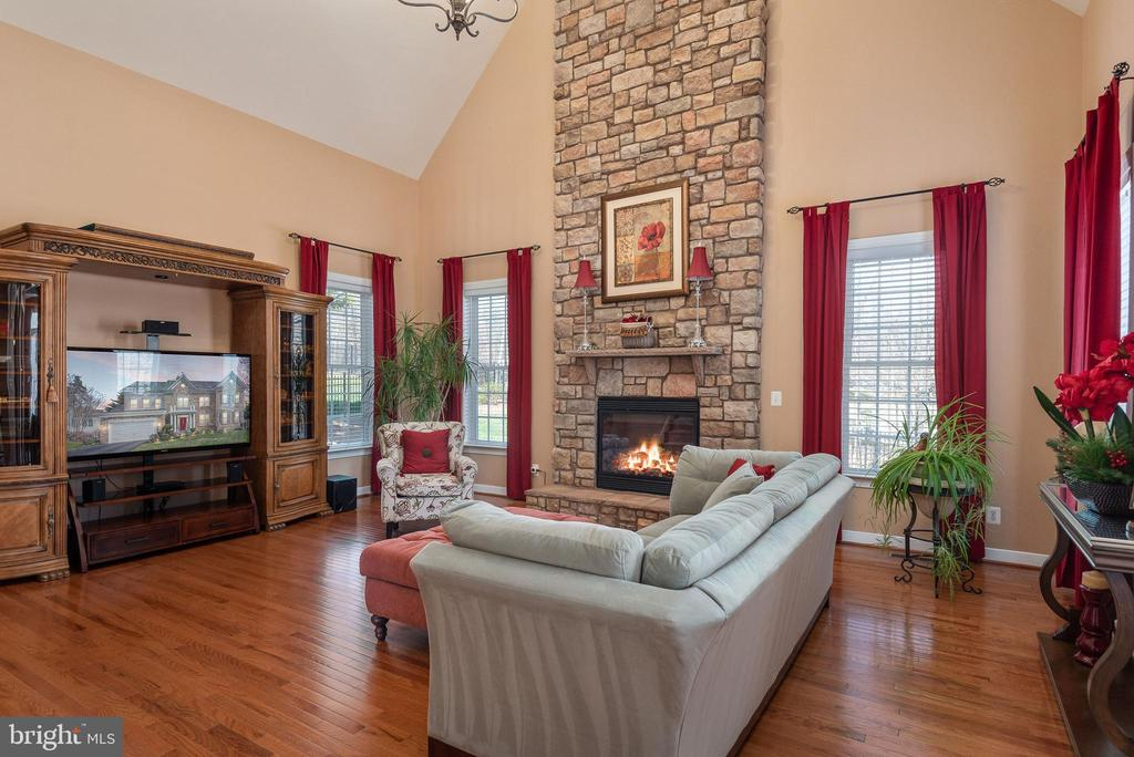 Cathedral ceiling in family room. - 3 GRISTMILL DR, STAFFORD