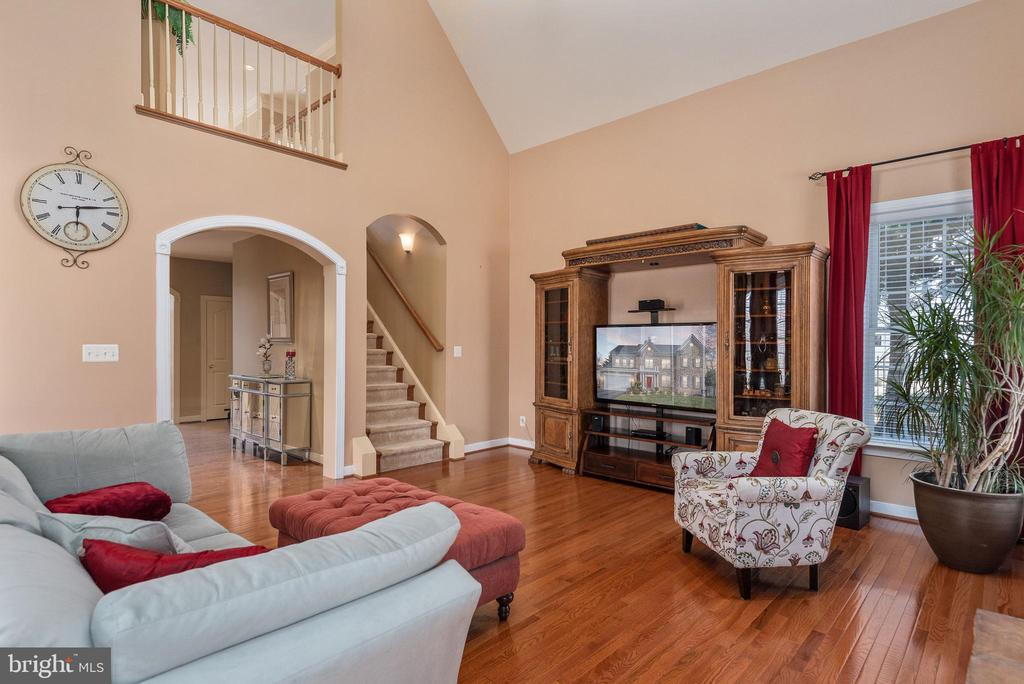 Open two story family room, Romeo & Juliet balcony - 3 GRISTMILL DR, STAFFORD