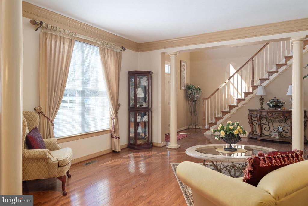 The elegant front formal living room - 3 GRISTMILL DR, STAFFORD