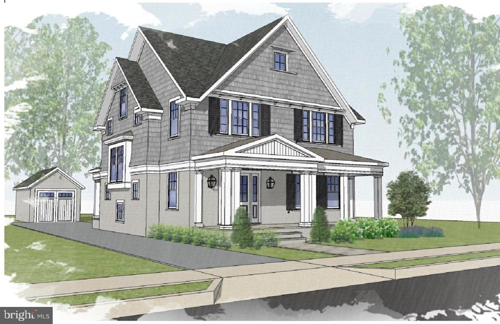 Front angle shot of proposed new home - 3709 THORNAPPLE ST, CHEVY CHASE