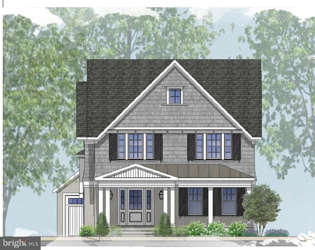 Front center shot of proposed new home - 3709 THORNAPPLE ST, CHEVY CHASE