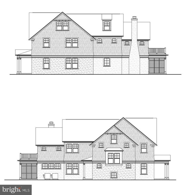 Side elevations - 3709 THORNAPPLE ST, CHEVY CHASE