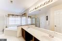 Master Bath Separate Shower and Soaking Tub - 12944 CREWS CT, BRISTOW