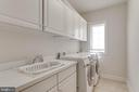Main level laundry with storage and sink - 8938 RHODODENDRON CIRCLE CIR, LORTON