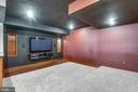 Media room with surround  sound  and tiered floors - 603 BEAUREGARD DR SE, LEESBURG