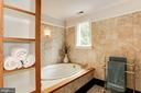 Master bath with skylights & a welcoming tub - 8201 SPRING HILL LN, MCLEAN