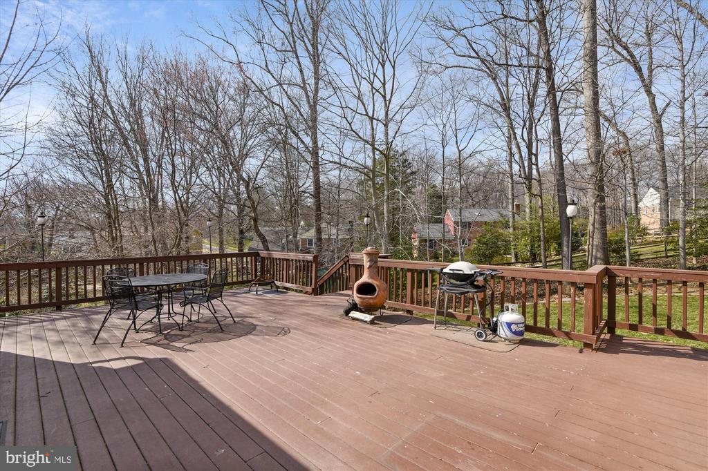 Deck View of Yard - 8312 CHARTWELL CT, ANNANDALE