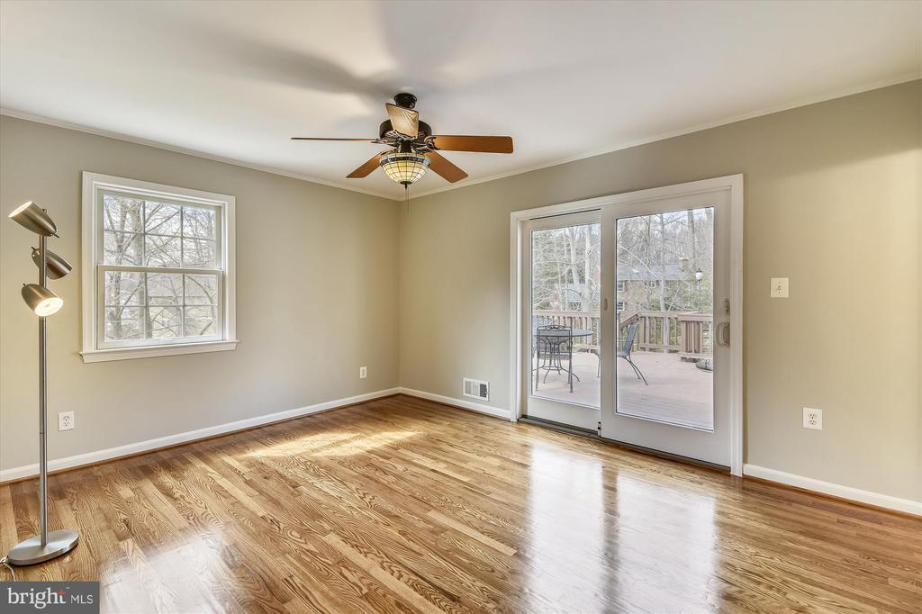 Master Bedroom with Deck Access - 8312 CHARTWELL CT, ANNANDALE