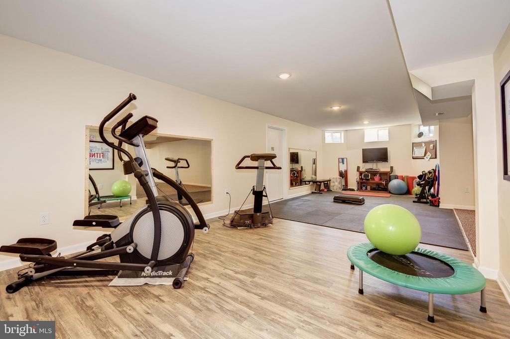 Fitness Studio with Rubber Mats - 7960 TALBOT RUN RD, MOUNT AIRY