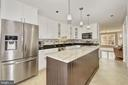 New Kitchen with Granite Island - 7960 TALBOT RUN RD, MOUNT AIRY