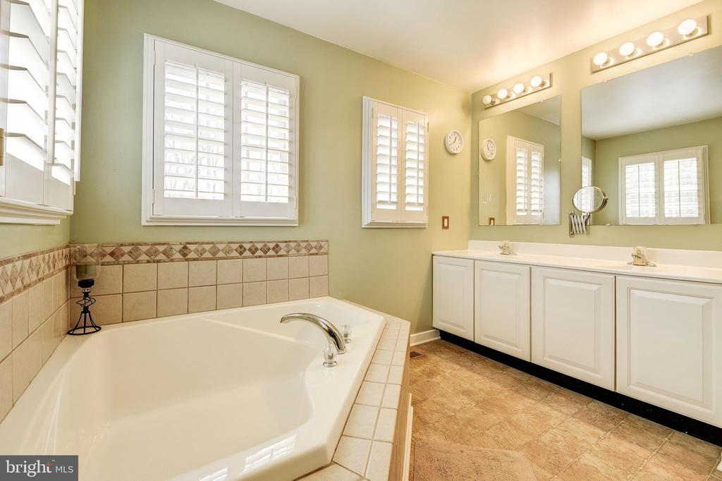 Master Bath with Soaking Tub - 7960 TALBOT RUN RD, MOUNT AIRY