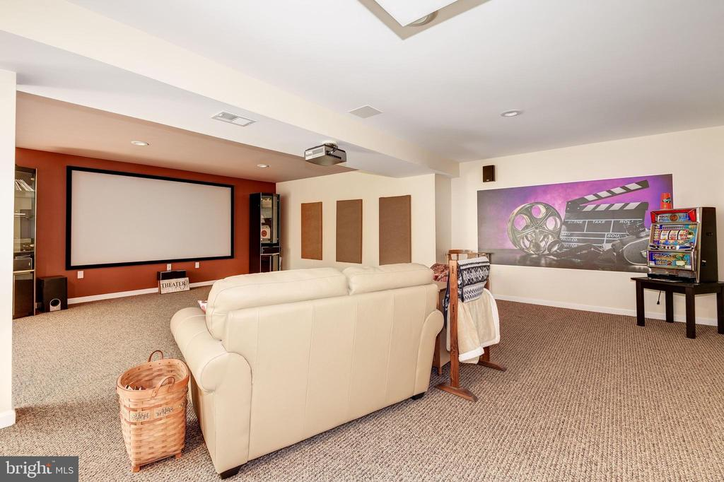 Home Theater - 7960 TALBOT RUN RD, MOUNT AIRY