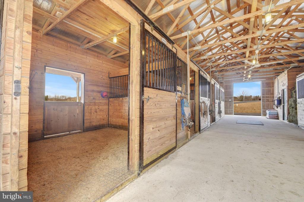 Large airy stalls with rubber mats - 7960 TALBOT RUN RD, MOUNT AIRY