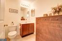 Guest home powder room - 7960 TALBOT RUN RD, MOUNT AIRY