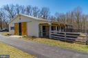 8 Stall Center Aisle Barn with Dutch Doors - 7960 TALBOT RUN RD, MOUNT AIRY