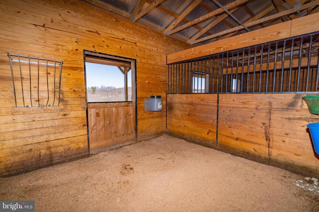 Each stall has a hay rack and dutch door - 7960 TALBOT RUN RD, MOUNT AIRY