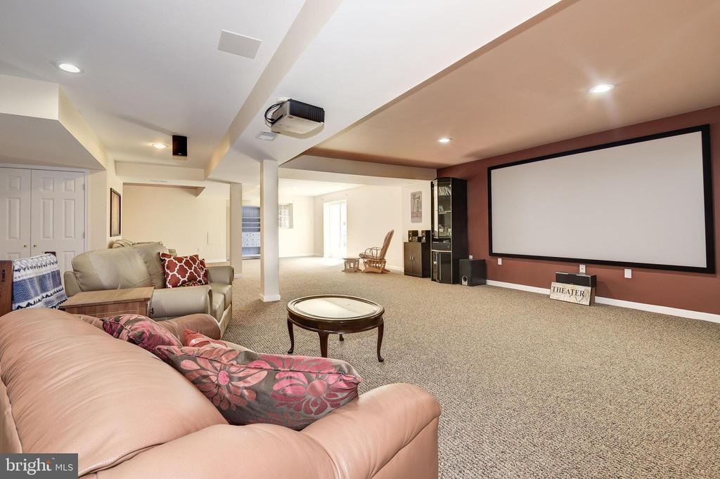 Home Theater with Movie Screen and Projector - 7960 TALBOT RUN RD, MOUNT AIRY