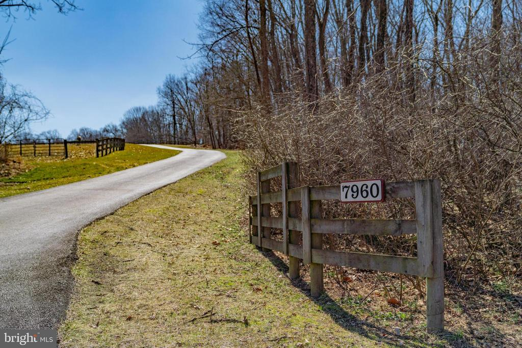 Entrance from the road leads up a gentle hill - 7960 TALBOT RUN RD, MOUNT AIRY