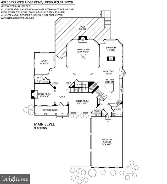 Main Level Floorplan - 43230 PARKERS RIDGE DR, LEESBURG