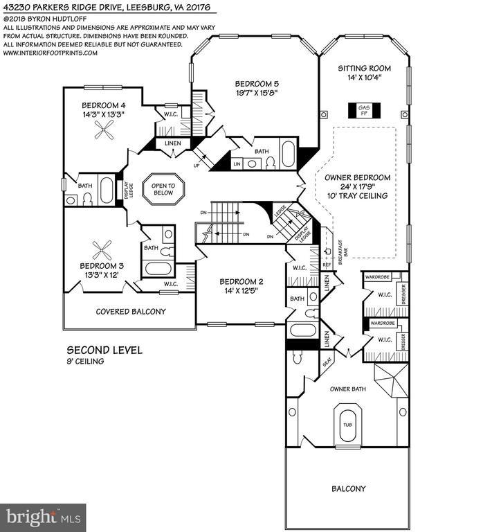 Upper Level Floorplan - 43230 PARKERS RIDGE DR, LEESBURG