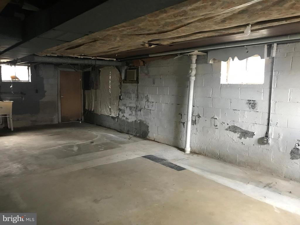 Unfinished Lower Level - 419 EARL ST, ALEXANDRIA