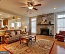Gas stone fireplace - 8938 RHODODENDRON CIRCLE CIR, LORTON