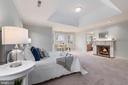 Master BR with Water Views and Natural Fireplace - 24080 CLIFF DR, WORTON
