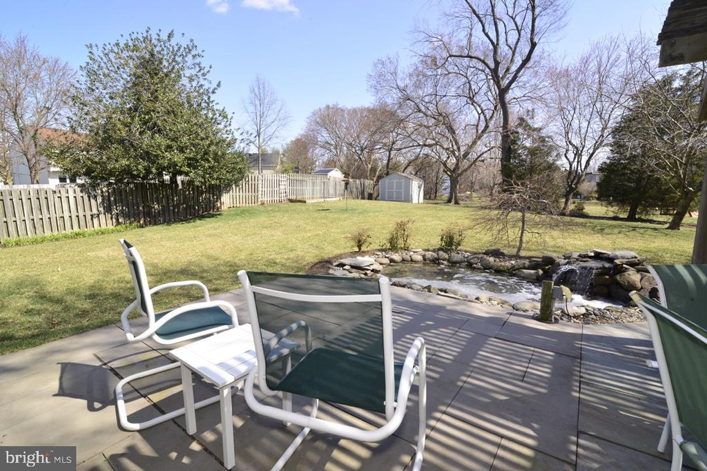 Slate Patio with Water Feature - 13366 POINT RIDER LN, HERNDON