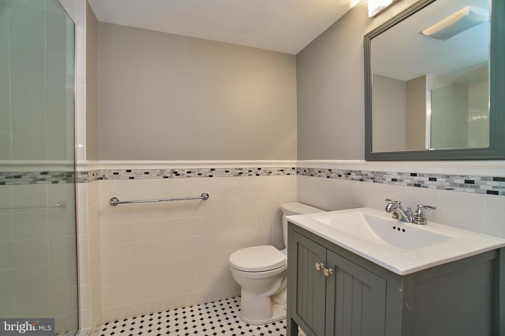 Remodeled lower level bath - 8588 CORAL GABLES LN, VIENNA