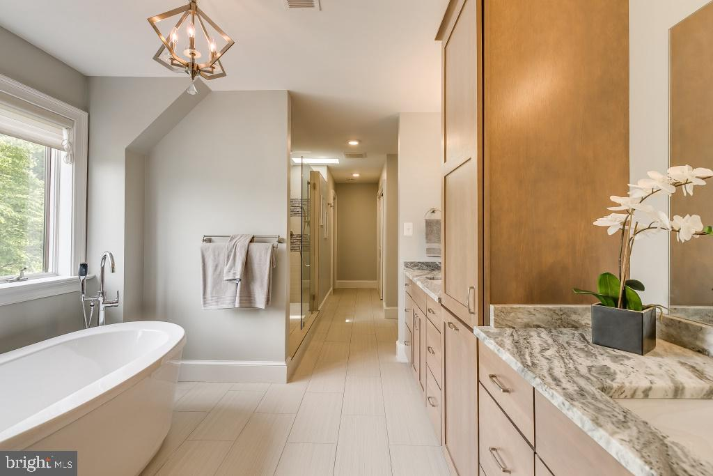 Spa like feeling in Master Bathroom (stock pic) - 7412 HAMILTON ST, ANNANDALE