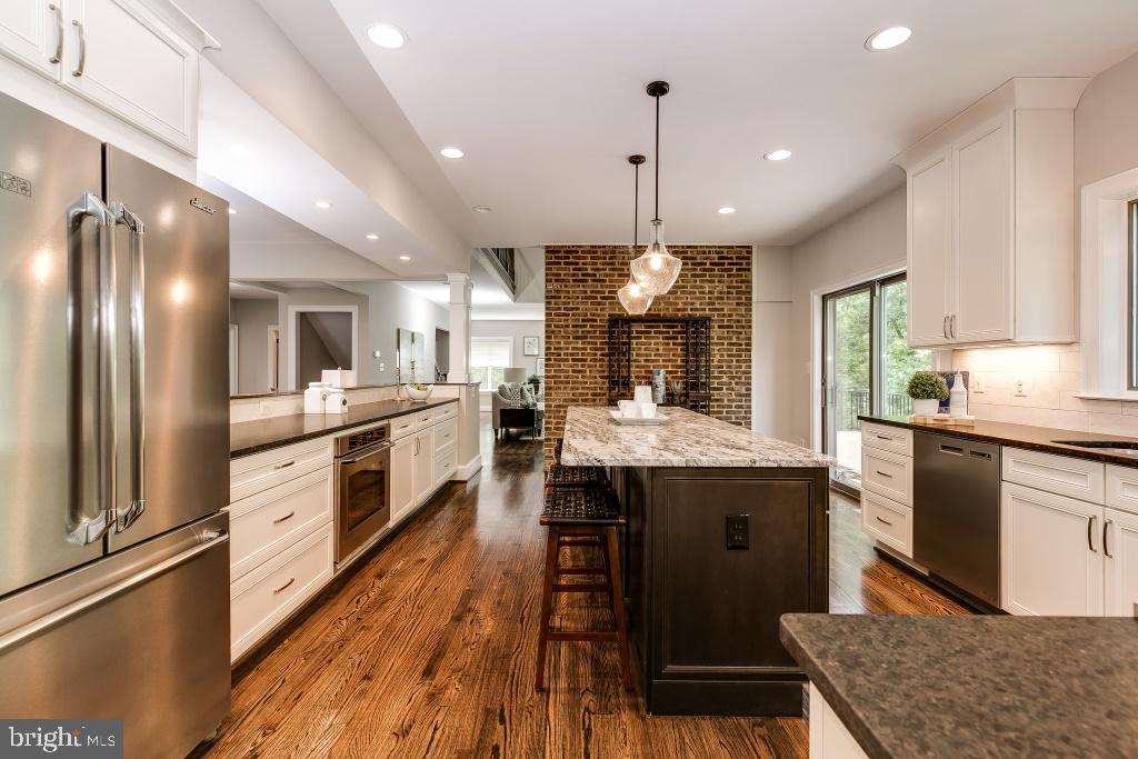 Modern Open Concept Kitchen w/Island (stock pic) - 7414 HAMILTON ST, ANNANDALE