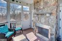 Screen porch with fireplace - 14720 SUMMIT VIEW, PURCELLVILLE