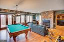 Lower level family room with fireplace - 14720 SUMMIT VIEW, PURCELLVILLE