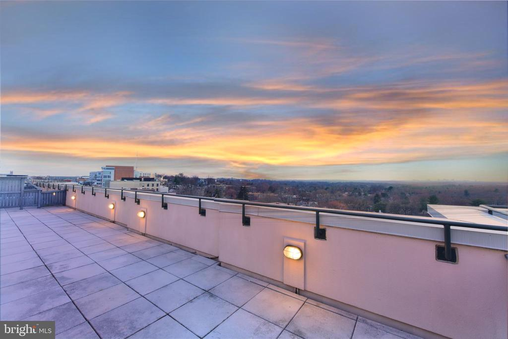 SUNSET VIEWS FROM THE TERRACE - 4750 41ST ST NW #PH502, WASHINGTON