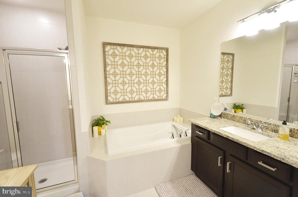 Beautiful MBA with double vanities, soaking tub. - 1320 RIBBON LIMESTONE TER SE, LEESBURG