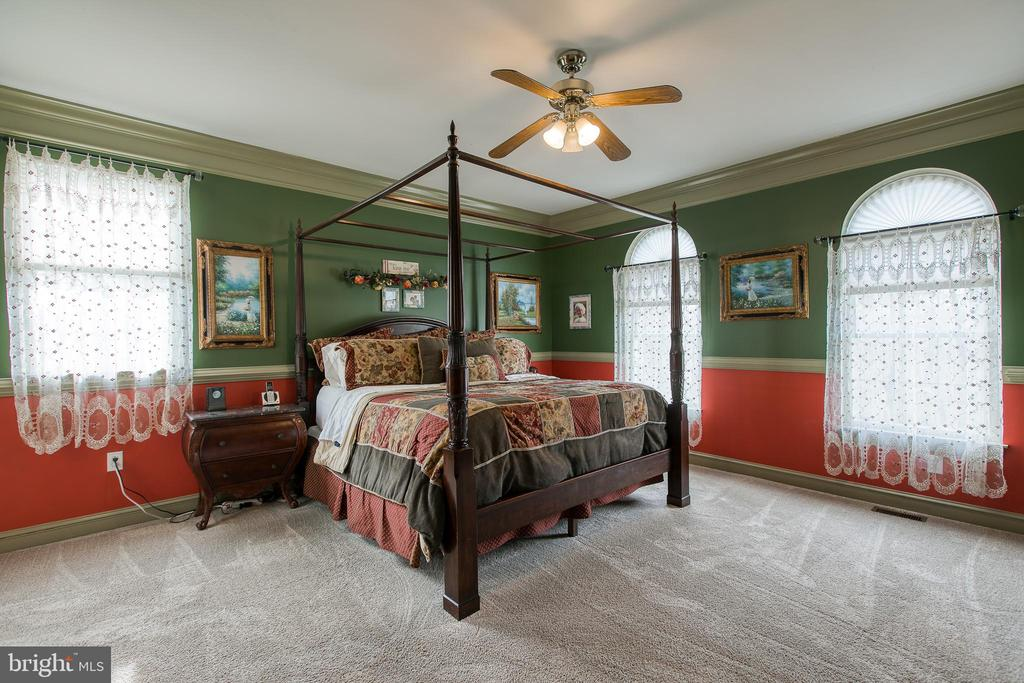 Large master  reminiscent of stately bedrooms - 40 KNOTSANCHOR LN, FREDERICKSBURG