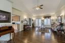 Living Room has hardwood floors - 40 KNOTSANCHOR LN, FREDERICKSBURG